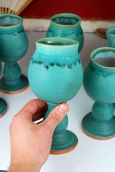 Turquoise Wine Goblet