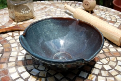 Large Serving Bowl or Mixing Bowl in Slate Blue