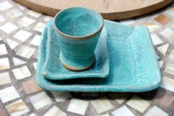 Breakfast for One in Turquoise