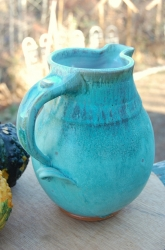 Large One Gallon Turquoise Pitcher