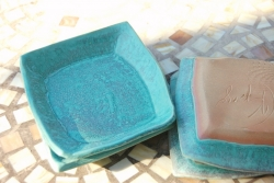 Bread Plate or Dessert Plate in Turquoise