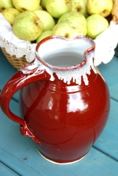 Large One Gallon Pitcher in Red