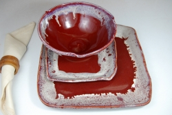 Red Agate Dinnerware Place Setting
