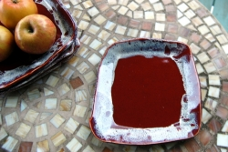 Square Lunch or Salad Plates in Red Agate