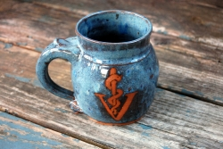 Veterinarian Insignia Medical Symbol Mug in Slate Blue