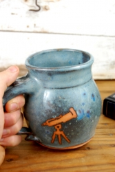 Astronomy Mug in Slate Blue