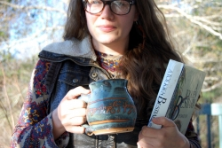 Elvish Runes Mug in Slate Blue