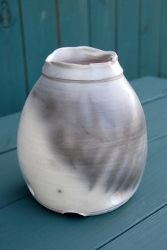 Smoke Fired Fern Vase