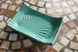 Textured Soap Dish in Turquoise