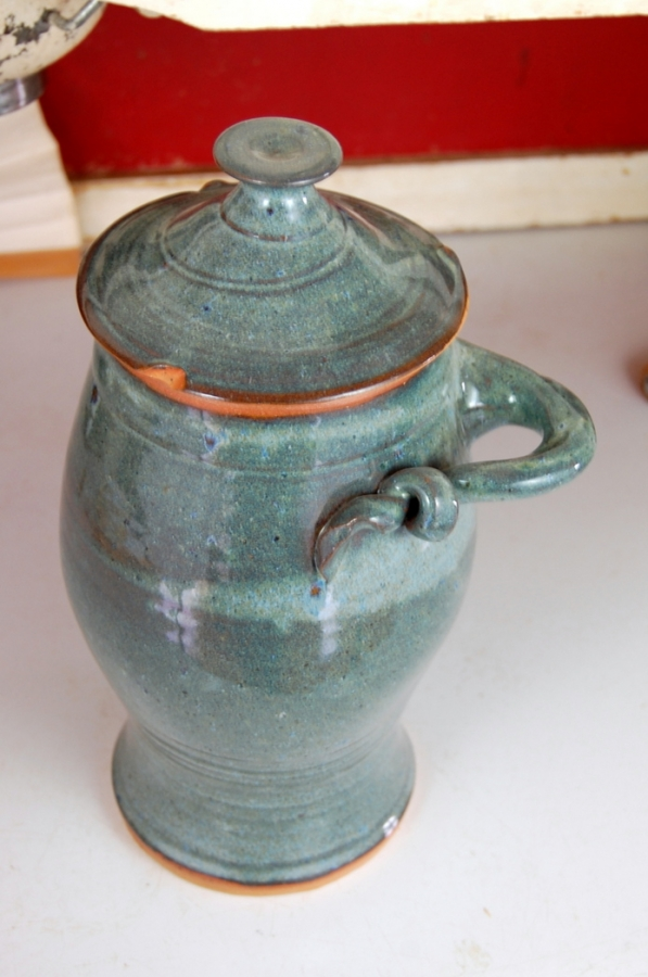 Large Handmade Pottery Kitchen Canister in Slate Blue Wheel Thrown  Stoneware Pottery Kitchen Canister