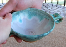 Loving Cup or Ceremonial Quaich in Turquoise