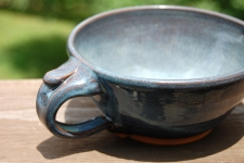 Cappuccino Cup or Soup Mug In Slate Blue