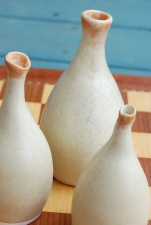 Family of Three Sunburst Vases