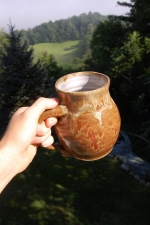 Huge Brownstone Monster Mug