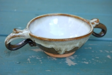Loving Cup or Ceremonial Quaich in Brownstone