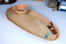 Bread Platter and Dipping bowl in Sunburst