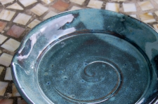 Round Lunch Plate in Slate Blue