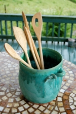Turquoise Utensil Holder