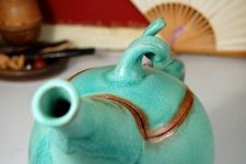 Sprouted Turquoise Teapot - Handmade to Order