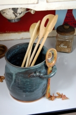 Slate Blue Utensil Holder -  Handmade to Order