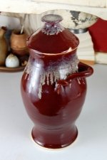 Large Kitchen Canister in Red Agate