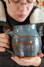 Elvish Monster Mug in Slate Blue