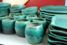 Eclectic Dinnerware Set for Six in Turquoise