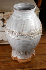 Huge Carved Shale Vase-IN STOCK