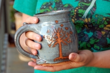 Tree of Life Mug in Slate Blue