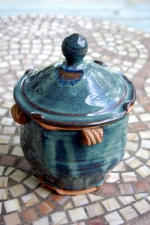 Lidded Canister or Box in Slate Blue