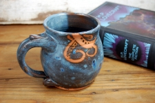 Tentacle Mug in Slate Blue