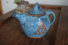 Deathly Hallows Teapot in Slate Blue