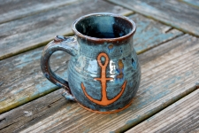 Anchor Mug in Slate Blue