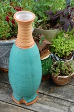 "Massive 23"" Turquoise Bottle"