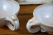 Cappuccino Cup or Soup Mug In Shale - Handmade to Order