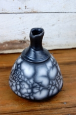 Unique Marbled Naked Raku Bottle