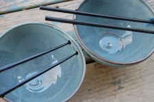 Noodle Bowl or Ramen Bowl in Slate Blue - Handmade to Order