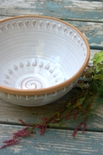 Peaked Large Serving Bowl in Shale - Handmade to Order